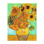 Van Gogh Twelve Sunflowers Stretched Canvas Print