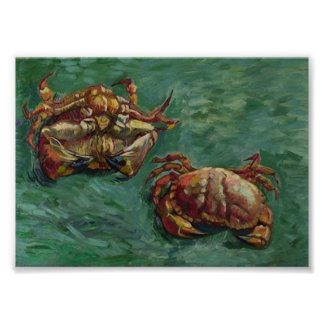 Van Gogh Two Crabs Post Impressionism Poster