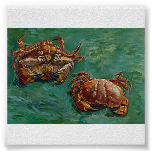 Van Gogh - Two Crabs Poster