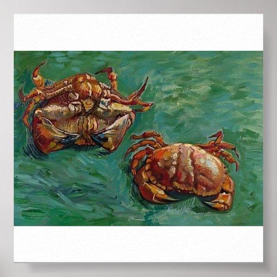 Van Gogh - Two Crabs Poster