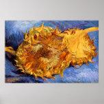 Van Gogh: Two cut Sunflowers