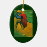Van Gogh Two Lovers Ceramic Oval Decoration