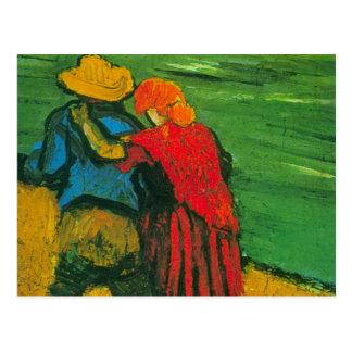 Van Gogh Two Lovers Postcard