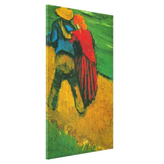 Van Gogh Two Lovers Stretched Canvas Prints