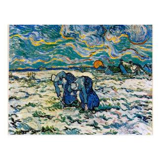 Van Gogh - Two Peasant Women Digging in Snow Postcard