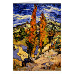 Van Gogh - Two Poplars on a Hill Stationery Note Card