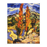 Van Gogh - Two Poplars on a Hill Stretched Canvas Print