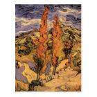Van Gogh Two Poplars on a Road Through the Hills Postcard