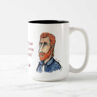 Van Gogh Two-Tone Coffee Mug