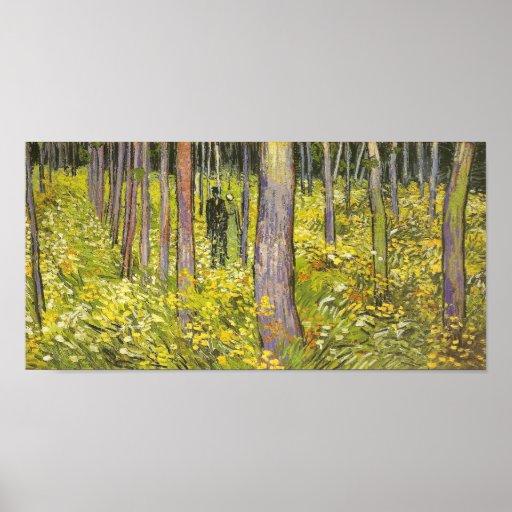 Van Gogh Undergrowth, Two Figures (F773) Fine Art Poster