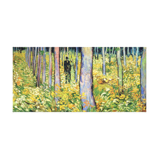 Van Gogh - Undergrowth With Two Figures Canvas Print