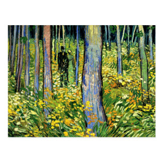 Van Gogh - Undergrowth with Two Figures Postcard