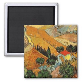 Van Gogh Valley with Ploughman F727 Refrigerator Magnets