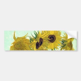 Van Gogh Vase 12 Sunflowers Post-Impressionism Bumper Sticker