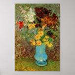 Van Gogh Vase, Daisies & Anemones (F323) Fine Art