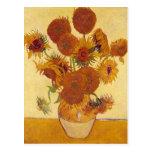 Van Gogh: Vase Fifteen Sunflowers Vintage Fine Art Postcard