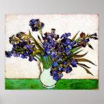 Van Gogh Vase of Irises Poster