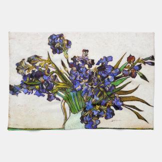 Van Gogh Vase of Irises Tea Towel