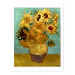 Van Gogh Vase Twelve Sunflowers Post Card