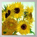 Van Gogh: Vase Twelve Sunflowers Vintage Fine Art Poster