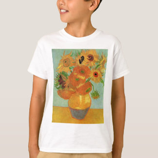 Van Gogh Vase with 12 Sunflowers, Flowers Fine Art T-Shirt