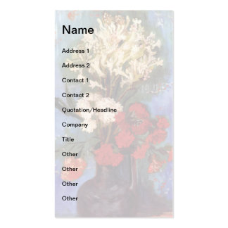 Van Gogh - Vase With Carnations And Other Flowers Pack Of Standard Business Cards