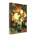 Van Gogh Vase with Carnations Canvas Print