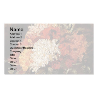 Van Gogh - Vase With Carnations Pack Of Standard Business Cards