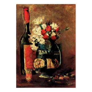 Van Gogh: Vase with Carnations, Roses and a Bottle Pack Of Chubby Business Cards