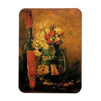 Van Gogh - Vase With Carnations, Roses & Bottle Rectangular Photo Magnet