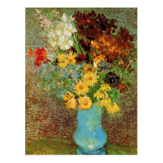 Van Gogh Vase with Daisies and Anemones Fine Art Postcard