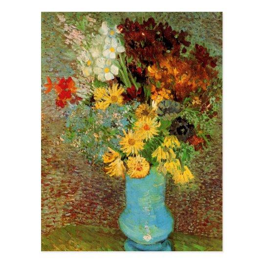 Van Gogh Vase with Daisies and Anemones Fine Art Postcard