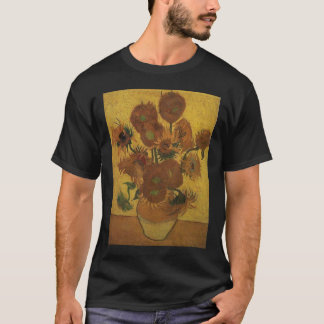 van gogh vase with fifteen sunflowers amsterdam  b T-Shirt