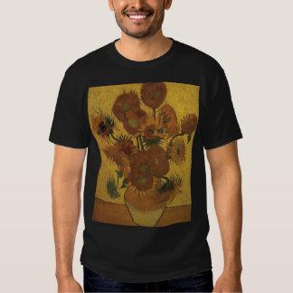 van gogh vase with fifteen sunflowers amsterdam t shirts