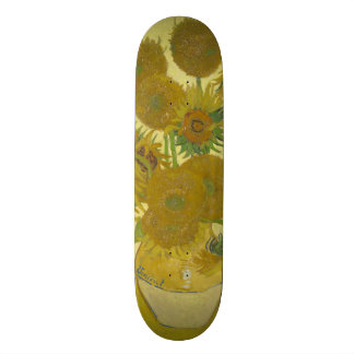 Van Gogh Vase with Fifteen Sunflowers GalleryHD Skate Decks