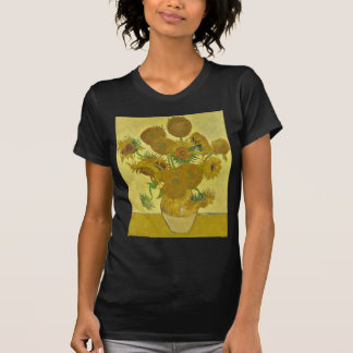 Van Gogh Vase with Fifteen Sunflowers GalleryHD Tee Shirts