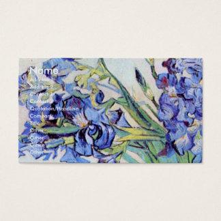 Van Gogh Vase with Irises, Vintage Floral Fine Art