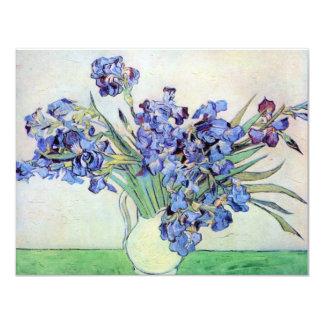Van Gogh Vase with Irises, Vintage Floral Fine Art 11 Cm X 14 Cm Invitation Card