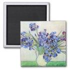 Van Gogh Vase with Irises, Vintage Floral Fine Art Magnet