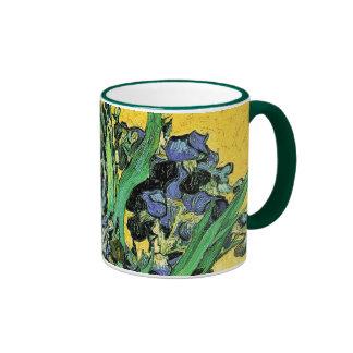 Van Gogh - Vase with Irises Yellow Background Mugs