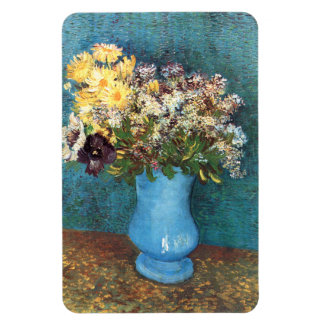 Van Gogh: Vase with Lilac, Marguerites & Anemones Rectangle Magnets