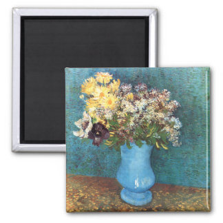 Van Gogh Vase with Lilac Marguerites Anemones Fridge Magnets