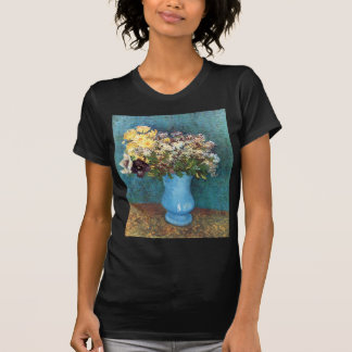 Van Gogh Vase with Lilac Marguerites Anemones Tshirts