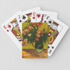 Van Gogh Vase With Oleanders And Books Floral Art Playing Cards