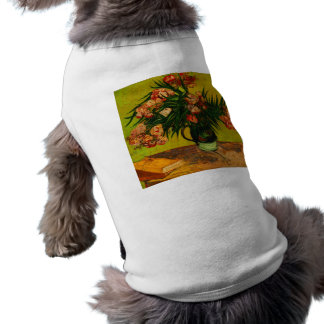 Van Gogh Vase With Oleanders And Books Floral Art Sleeveless Dog Shirt