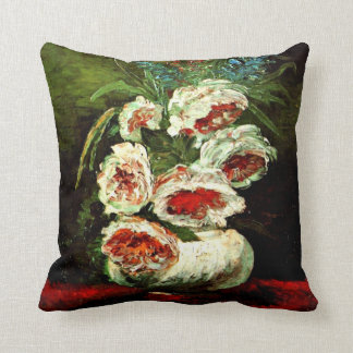 Van Gogh: Vase with Peonies Cushion