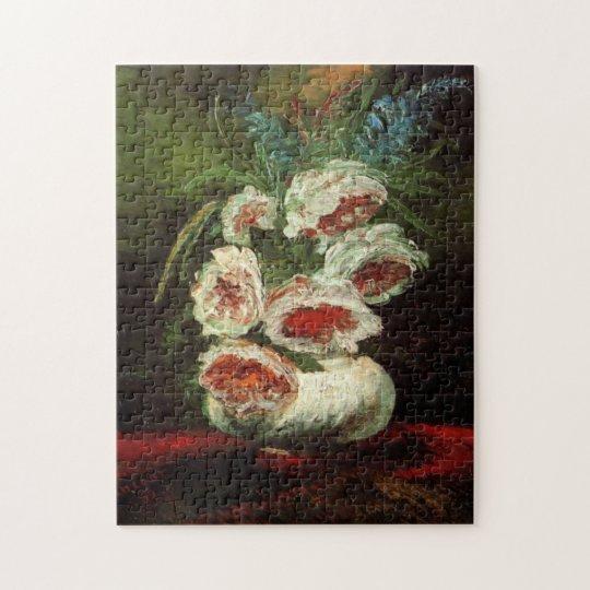 Van Gogh Vase with Peonies, Vintage Fine Art