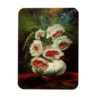 Van Gogh Vase with Peonies, Vintage Floral Flowers Flexible Magnets