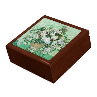 Van Gogh Vase with Pink Roses Vintage Floral Art Gift Box