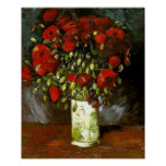 Van Gogh Vase With Red Poppies (F279) Fine Art
